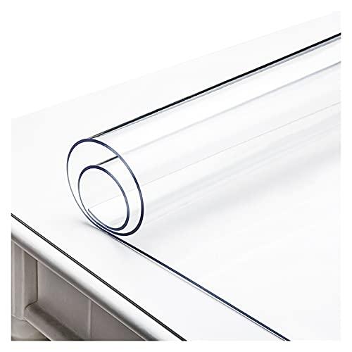 AWSAD Mantel Transparente,Rectangular Protector Mesa Transparente, Mantel Lavable y Fácil De Limpiar, para Mesa De Centro, Mesa De Cristal, Mesa De Comedor (Color : Clear-2mm, Size : 90x90cm)