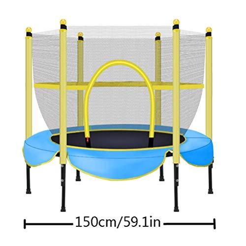 Peuter Trampoline, Huishoudelijke Indoor Kleine Fitness Jump Trampoline Met Beschermend Net Elastische Aerobic Bouncer