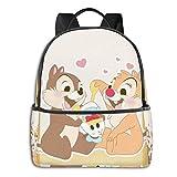 Jupsero Bolsa de viaje Bolsas para portátil Ch-ip and D-ale Backpack Smooth Zipper Travel Bag Laptop Bags ,Suitable for College, School, Casual Daypacks 14.5 x 12 x 5 Inch