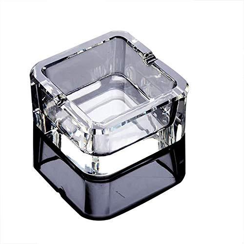 Asbak Solid 3.3 * 7cm, 3.8 * 9cm Stijlvolle salontafel met transparant kristal mooi