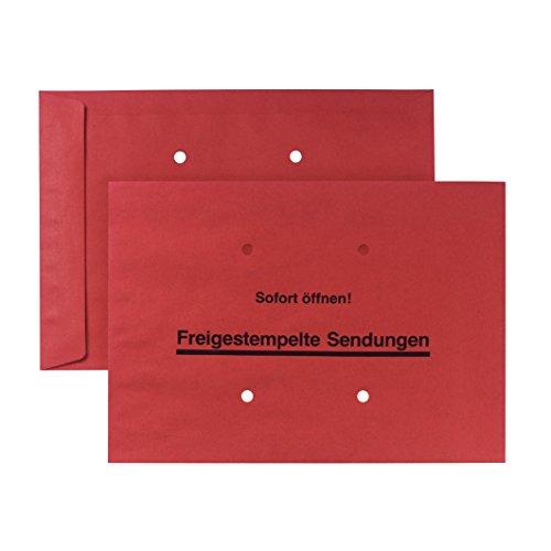 POSTHORN envelop B4 (353x250mm) natklevend donkerrood 90g gratis stempel 250 stuks
