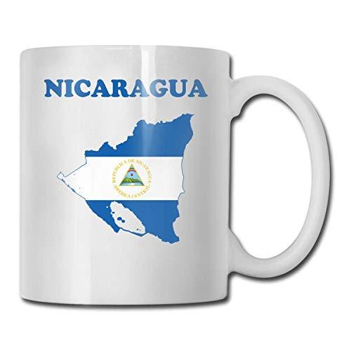 Taza de té con diseño de bandera de Nicaragua, idea de regalo de cumpleaños para hombres y mujeres amigas