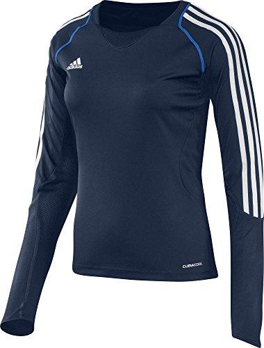 adidas Damen Langarmshirt T12 Team Climacool Longsleeve X13172, Navyblau/Weiß, 52