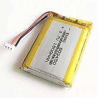 3.7V 1500mAhリチウムポリマーLiPo充電式バッテリー、JST ZH1.5mm 3ピンコネクタ付きMP3 DVD PADカメラGPSラップトップ803450-3.7V_1個