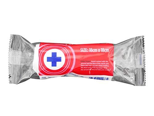 Blue Lion First Aid Sterile Verbandskissen, 18 cm, für Arme, Bein, Blau, 25 Stück
