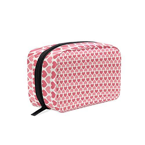 Trousse de maquillage avec fermeture à glissière pour sac cosmétique d'embrayage sac de rangement pour le sac de rangement de la belle coeur