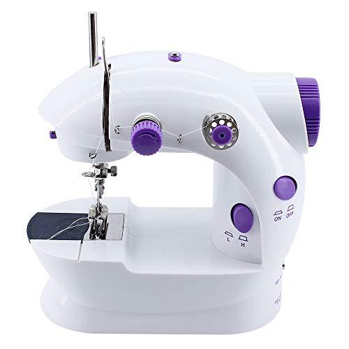 ShawFly Máquina de coser portátil Inicio Mini automático de múltiples funciones Pequeño escritorio eléctrico Comer grueso con máquina de coser ligera