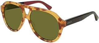 غوتشي نظارات شمسية للجنسين، اخضر