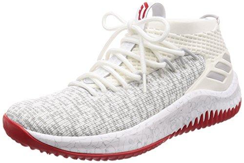 Adidas Dame 4, Zapatillas de Deporte Hombre, Blanco (Ftwbla/Gridos/Escarl 000), 44 EU