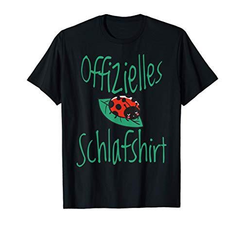 Marienkäfer süßes Offizielles Schlafshirt Nachthemd T-Shirt