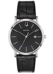 Classic and charming watch perfect for every occasion -The watch has a calendar function: date High quality 21 cm length, 18 mm wide black leather strap with a buckle Case diameter: 37 mm, case height: 6 mm and case color: silver dial color: black Wa...