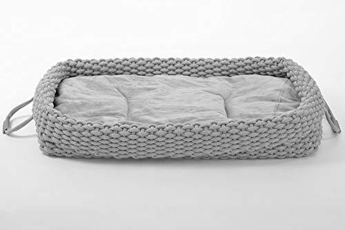 animal-design Hundebett Knit Hundekorb Hundekissen robust aus Baumwollstoff geflochten, verschieden Größen, Größe:Größe 3