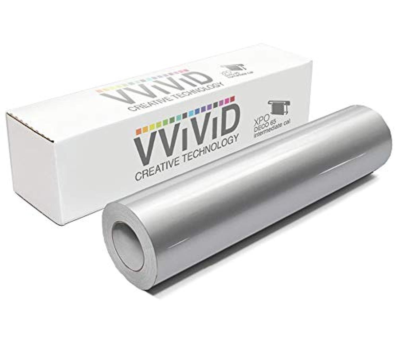 VViViD Silver Metallic Gloss DECO65 Permanent Adhesive Craft Vinyl for Cricut, Silhouette & Cameo (7ft x 11.8