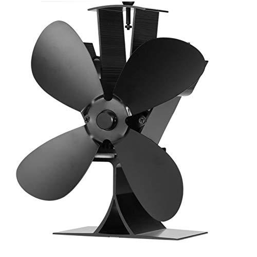 Lovejoy Store Stromloser Kamin Ventilator, Home 4-Blatt-Kaminofen mit Großem, Stromloser Wärmebetriebenem Luftstrom und Holzklotz für Abgasrohre Kamin Öfen
