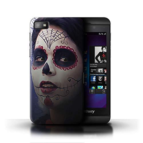 Stuff4® Hülle/Hülle für BlackBerry Z10 / Halloween Bilden Muster/Tag Der Toten Festival Kollektion