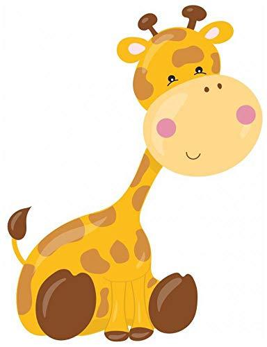 Samunshi® Süße Giraffe Wandtattoo Wandaufkleber Kinderzimmer in 4 Größen (23x30cm Mehrfarbig)