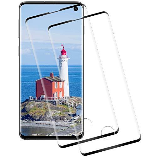 puissant Verre trempé NASFUEY pour Samsung Galaxy S10 [2 pièces] Film protecteur, haute sensibilité, super…