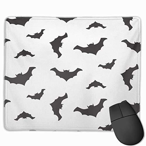 Bureau-muismat, muismat, animatie, Halloween, vliegen, vleermuis, zwart, silhouetten en wit, Celebration Dark Fun Gotih