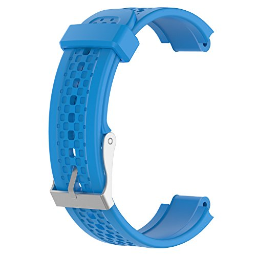 ECSEM Replacement Band Compatible with Garmin Forerunner 25 GPS Running Watch Wristband Fitness Tracker for Smartphone(Female Strap) (Sky Blue)