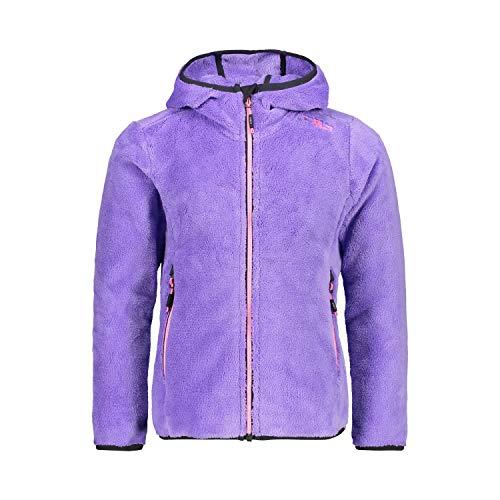 CMP Mädchen Fleecejacke Girl Jacket Fix Hood 38P1455 Iris 104