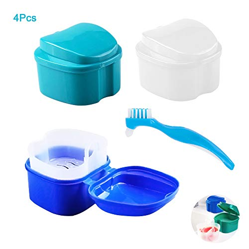 blu ROSENICE Contenitori per protesi dentaria ortodontiche