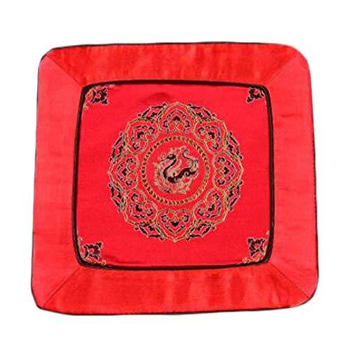 Wukong Paradise Damask Broderie Coaster Mat Tapis Tapis De Thé Chemin De Table Accessoires De Thé-A01