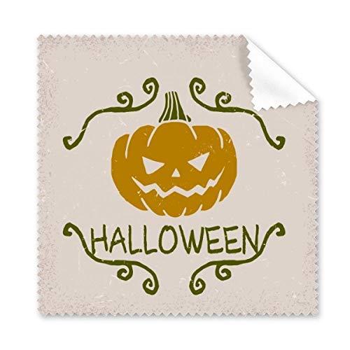 DIYthinker Halloween-Kürbis-Karikatur-Muster-Brillenputztuch-Reinigungstuch Geschenk Telefon Screen Cleaner 5pcs