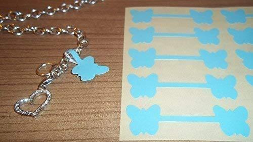 150Powder Blue Butterfly Form Schmuck Preis Etiketten/Preis Aufkleber/Kurzhantel geformten Etiketten