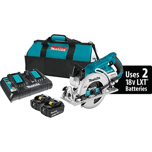 Makita XSR01PT 18V x2 LXT Lithium-Ion (36V) Brushless Cordless Rear Handle 7-1/4' Circular Saw Kit (5.0Ah) (Renewed)