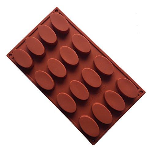 MKNzone 1 Moule en Silicone pour Muffins, Cupcake Et Gelée - Ovale(29.5 X 17.5 X 1.8 cm)