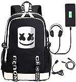Student Backpack Schoolbag Großes Volumen Mit USB-Ladeanschluss Und Audio-Schnittstelle Unisex School Book Bag Trend Rucksack, Leichter Anti-Diebstahl-Reisetagesrucksack College Student Rucksack