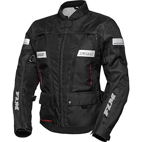FLM Motorradjacke mit Protektoren Motorrad Jacke Sommerreise Damen Textiljacke 1.0 schwarz XS, Enduro/Reiseenduro
