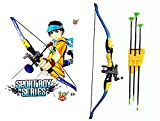Toy Arena Big Size Archer Bow and Suction Arrows Archery with Quiver