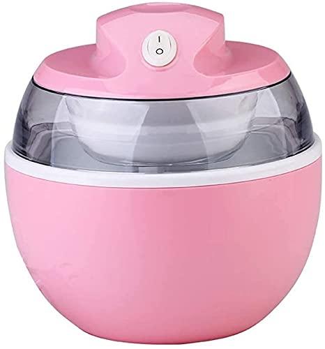 WSVULLD Máquina de fabricante de helados de helado suave Máquina de fabricante de helados, bricolaje portátil Hacer sorbete delicioso yogur congelado, lema de mezcla bidireccional, fácil de operar ade