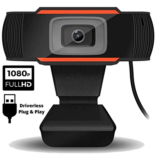 Dododuck Webcam with Microphone Full HD 1080P - Simple and Affordable Driverless USB Plug and Play - Echo Cancelling Microphone - for Video Recording, Conferencing, Gaming, Live Streaming
