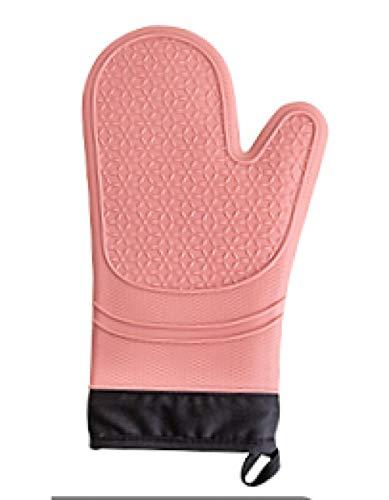 Niakeep Grillhandschoen, extreem hittebestendige siliconenhandschoenen, voor mannen en vrouwen, pannenlappen, antislip, hittebestendig, warm voor het grillen, koken, bakken, grillen, open haard en magnetron