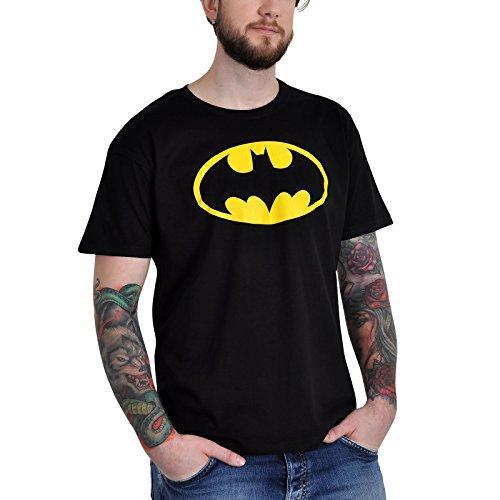 Batman Logo Retro T-Shirt DC Comics hochwertig schwarz - S