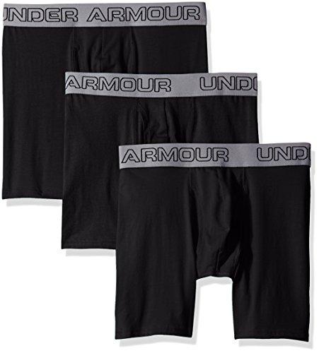 Under Armour Herren Charged Cotton 6in 3pk Unterhose, Black, 3XL