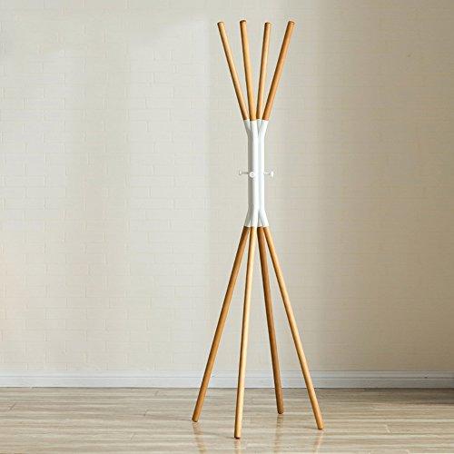 JiANFEI Kledingrek hoed staander kledinghanger boom eenvoudig multi-hangende takken kruis taille ronde haak 4 poten solide, hout