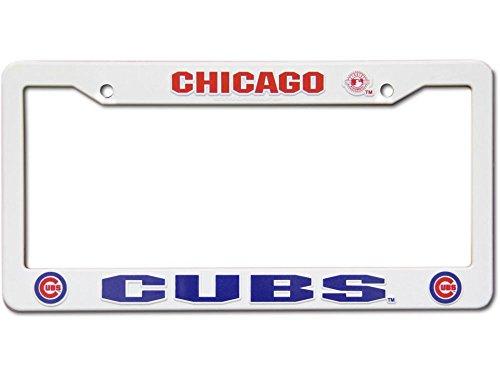 MLB Chicago Cubs Plastic License Plate Frame - White