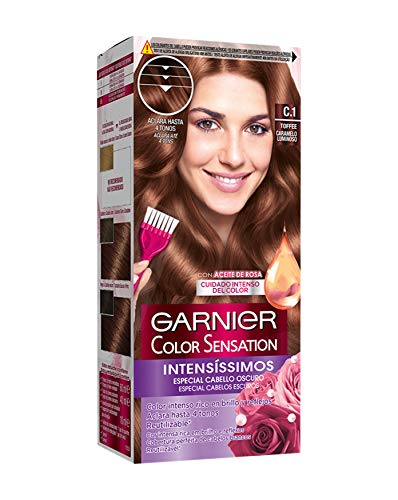 Garnier Color Sensation coloración permanente e intensa reutilizable con bol y pincel - Tono: C1 Toffee
