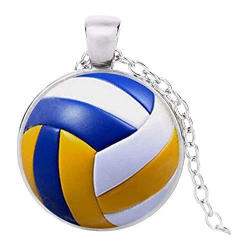 Unbekannt Halskette, Anhänger, Motiv: Volleyball