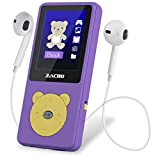 Zacro Reproductor MP3 para Niño 8GB,Reproductor MP3 Niño Pantalla 1.8' LCD,Cartoon Multifuncional de Videojuegos, de Música,Vídeo Radio FM,Apto para 32GB extendido MP3 MP4 de Multimedia Niño,Violeta