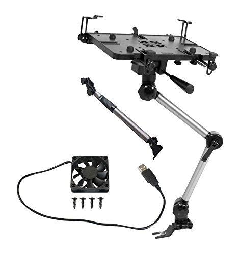 Mobotron MS426B Vehicle Laptop Mount Plus Screen Stabilizer Plus Cooling Fan Plus Supporting Brace
