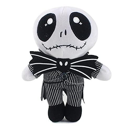 Peluche de 25 cm de Jack's Skull Doll Boy Antes de Navidad, posición sentada de 20 cm