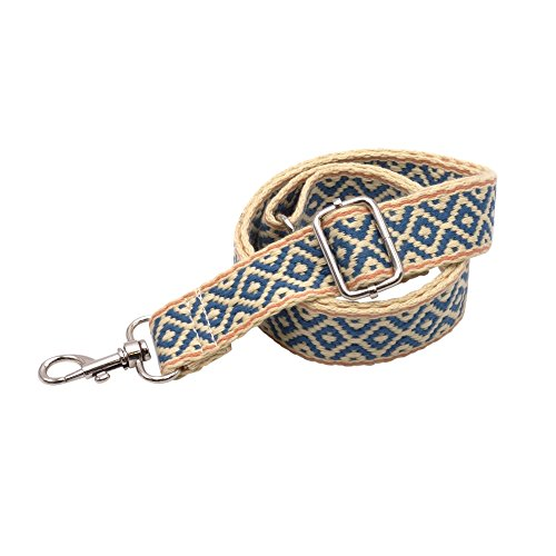 BENAVA Taschengurt Verstellbar - Stilvoller Crossover Schultergurt mit Karo Muster - BOHO Tragegurt - Zubehör für alle Handtaschen 60-120 cm (Silber)