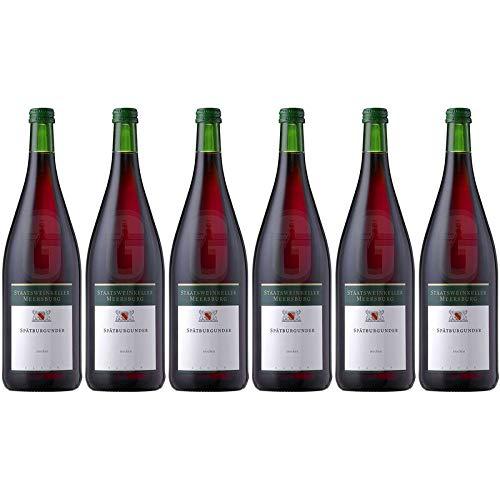 Spätburgunder trocken Staatsweinkeller Staatsweingut Meersburg 13% 1,00l (Paket 6x1l)