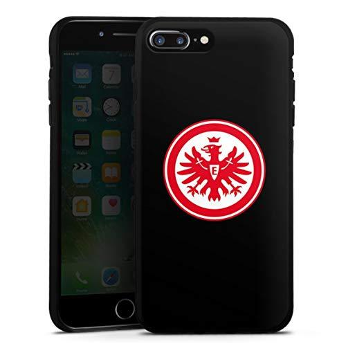 DeinDesign Silikon Hülle kompatibel mit Apple iPhone 8 Plus Hülle schwarz Handyhülle Eintracht Frankfurt SGE Adler