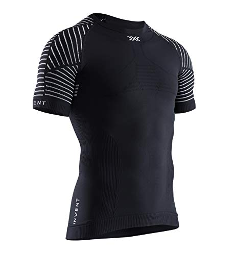 X-Bionic Invent 4.0 Light Round Neck Sleeve Men T Shirt Homme, Opal Black/Arctic White, FR : M (Taille Fabricant : M)