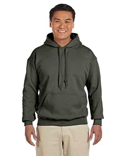 Gildan Heavy Blend 18500 - Sudadera con capucha para hombre verde (verde militar) XXXXL